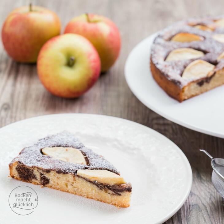 Apfelkuchen Mit Marzipan Backen Macht Glucklich