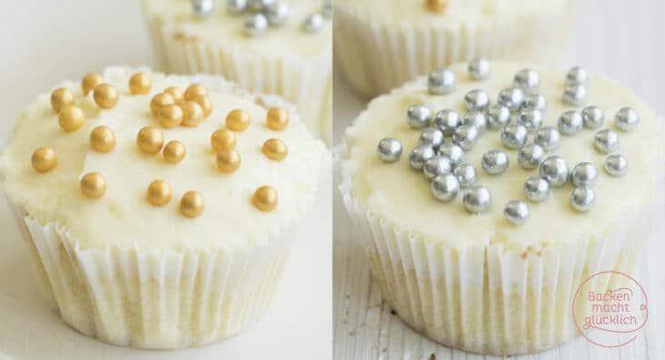 cupcakes mit weißer schokolade