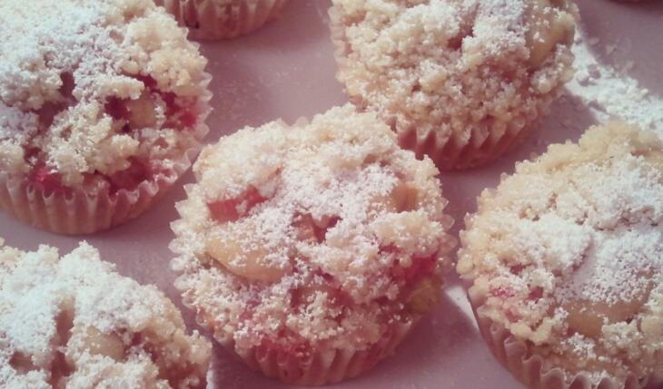 Rhabarber Streusel Muffins