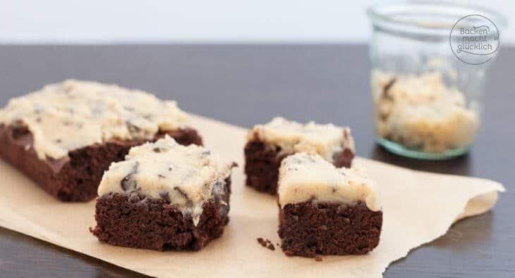 Cookie Dough Brownies Rezept