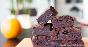 Schokoladen-Orangen-Brownies