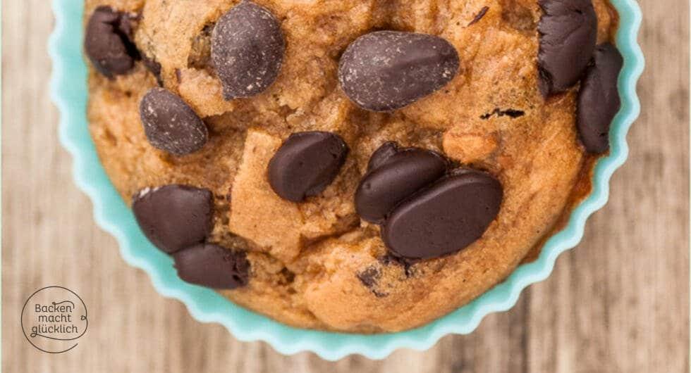 Bananen Schoko Muffins ohne Zucker