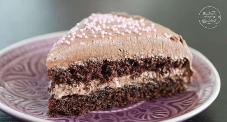 Einfache Schoko Buttercreme Torte Backen Macht Glucklich