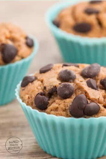 Erdnussbutter Muffins gesund