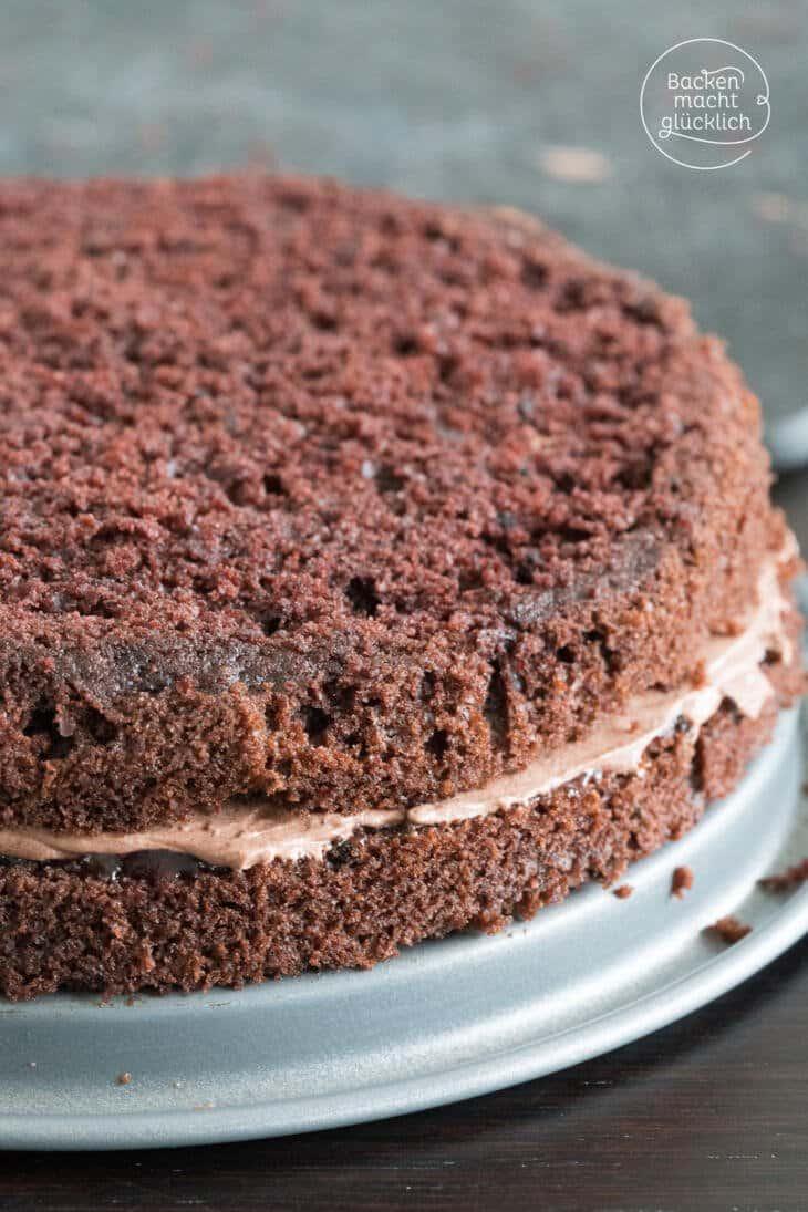 Einfache Schoko-Buttercreme-Torte