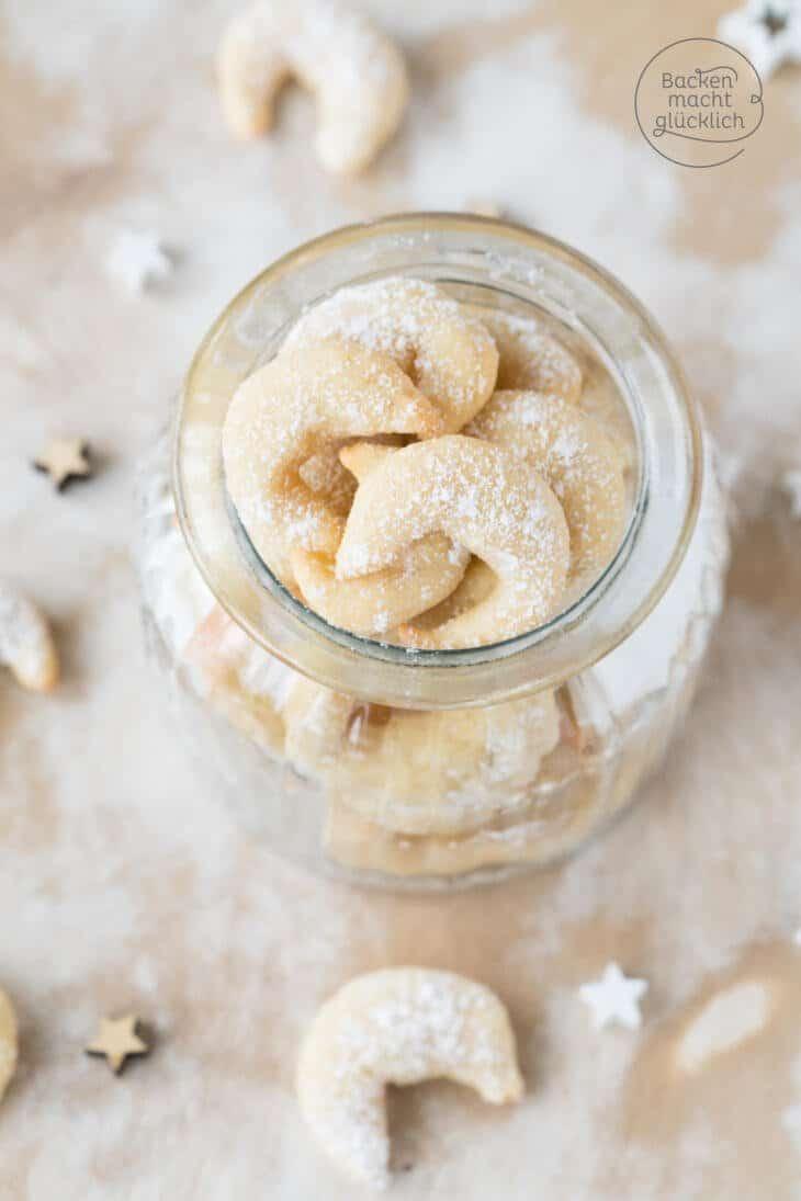 Leichte Vanillekipferl fettarm zuckerfrei