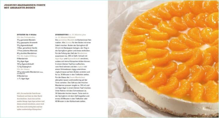 Joghurt-Mandarinen-Torte aus Vegan for fit