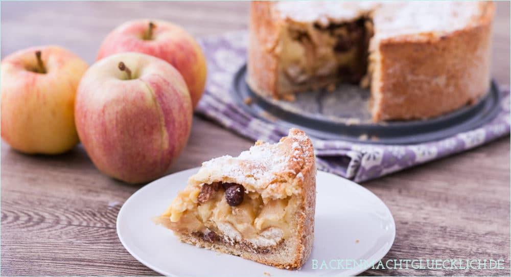 Gedeckter Apfelkuchen Mürbeteig