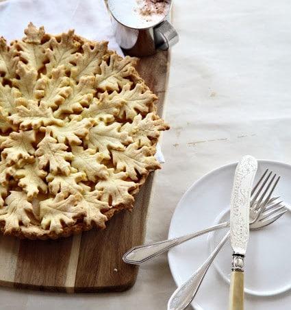 Apfelkuchen mit Ahornplätzchen