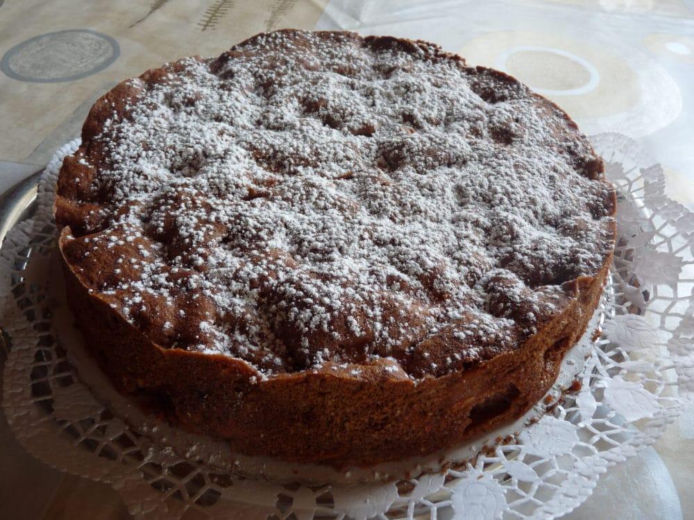 Apfelkuchen mit Schokolade