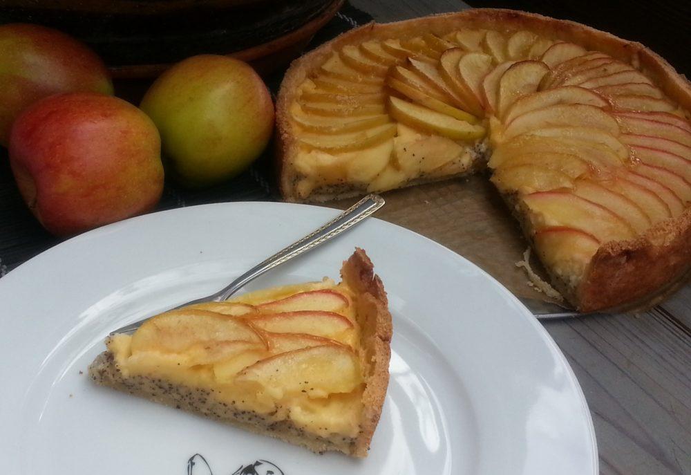 Apfeltraum auf Mohn-Vanillecreme