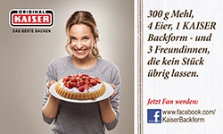 Kaiser Backformen bei Facebook
