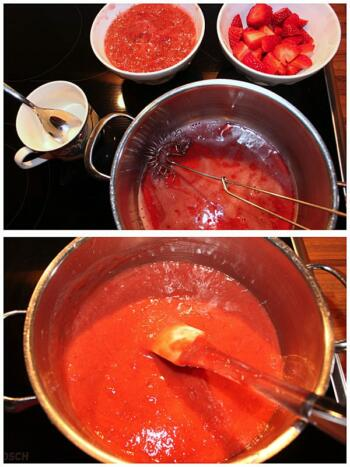 Baisertorte-Fuellung-aus-Erdbeeren-Collage 2