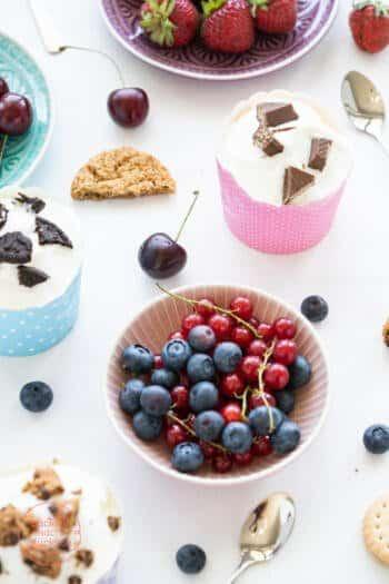 Frozen Joghurt ohne Zucker, Sahne, Ei