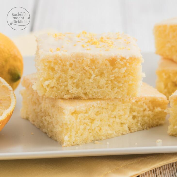 Saftiger Zitronenkuchen Vom Blech Backen Macht Glucklich