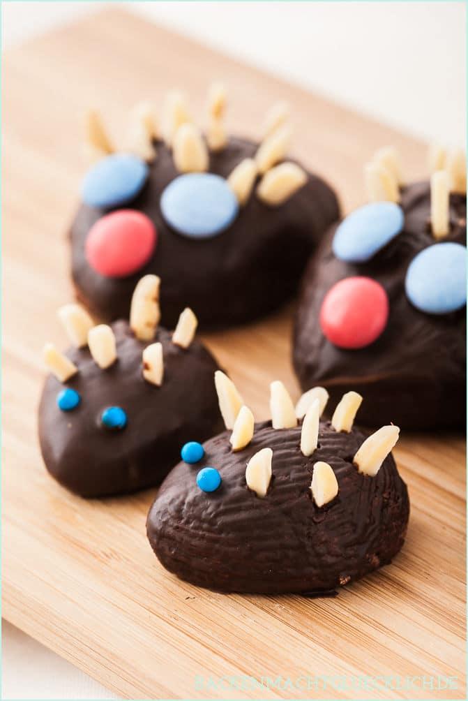 Schokoladen-Igel-Familie Backrezept
