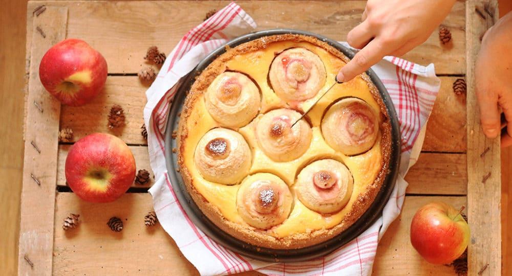 Bratapfelkuchen mit Schmand | Backen macht glücklich