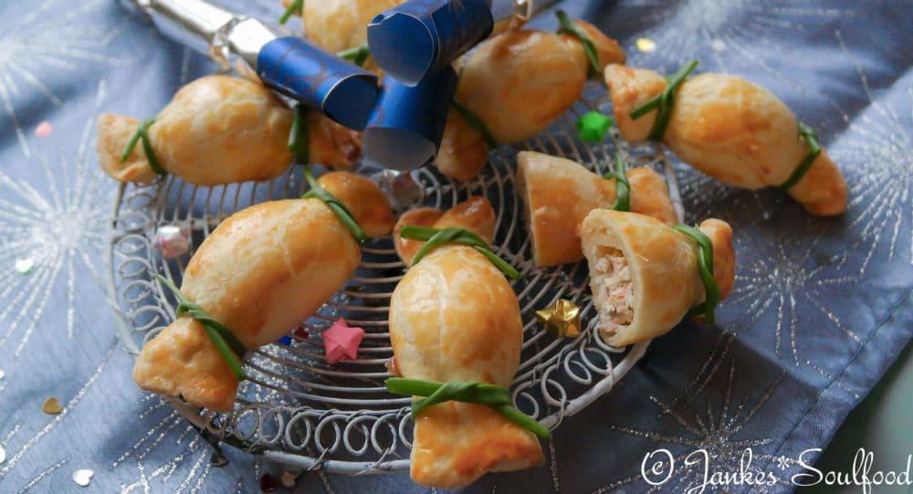 Silvester Fingerfood mit Lachs und Schinken