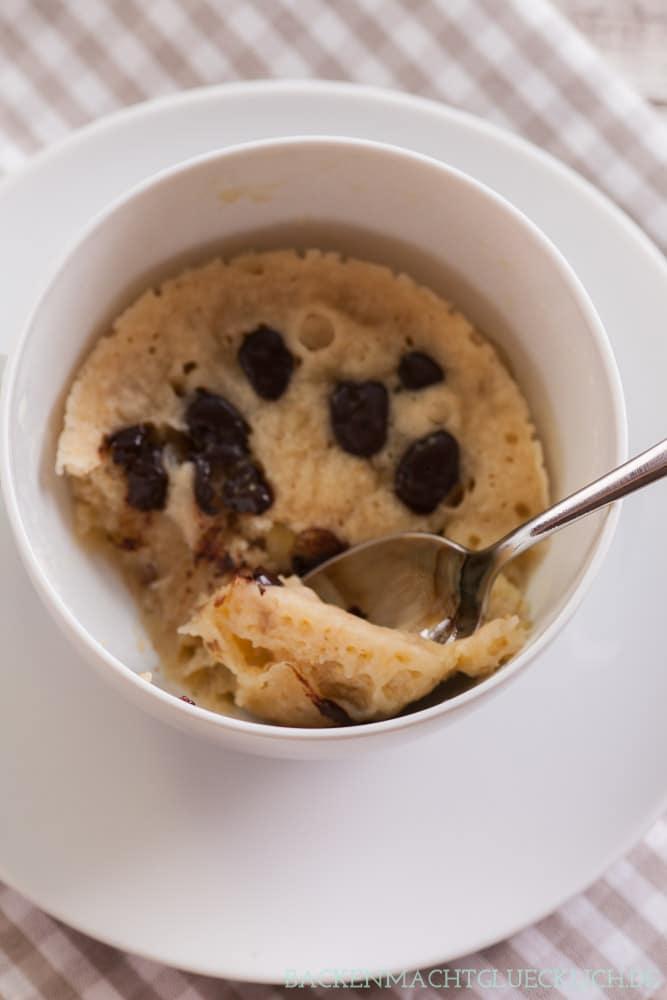Mikroellenkuchen ohne Ei vegan