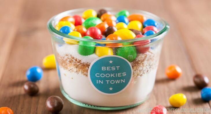 Backmischung Im Glas Für Cookies Backen Macht Glücklich