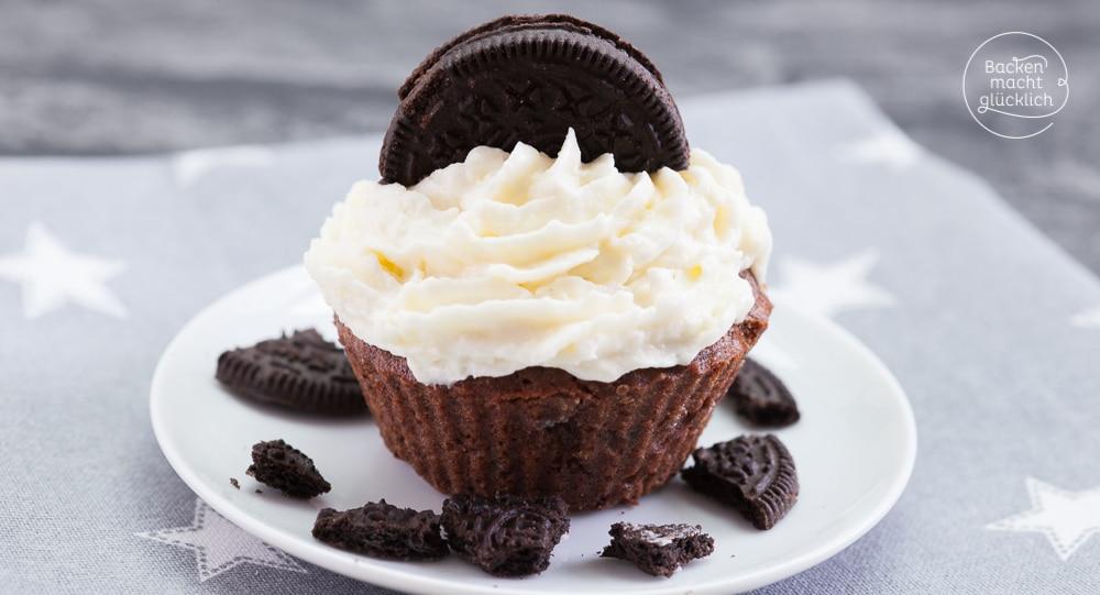 Einfache Oreo-Cupcakes   Backen macht glücklich