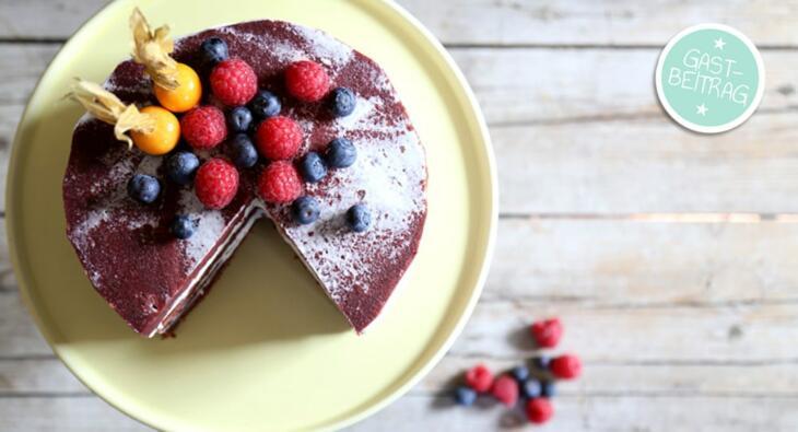 Red Velvet Cake Mit Frosting Backen Macht Glucklich