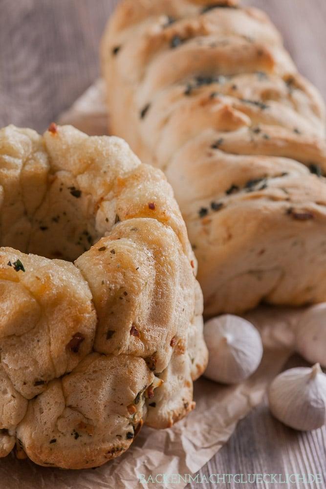 Herzhaftes Monkeybread Pull-Apart-Brot