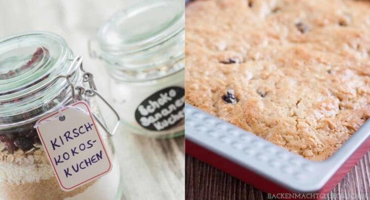Kuchen Backmischung im Glas Anleitung