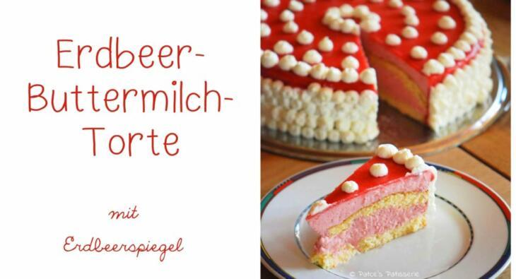 Rezept für Erdbeer-Buttermilch-Torte