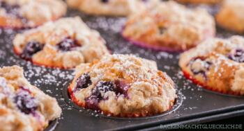 American Blueberry Muffins Rezept