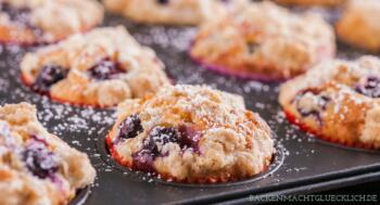 Blueberry Muffins mit Streuseln