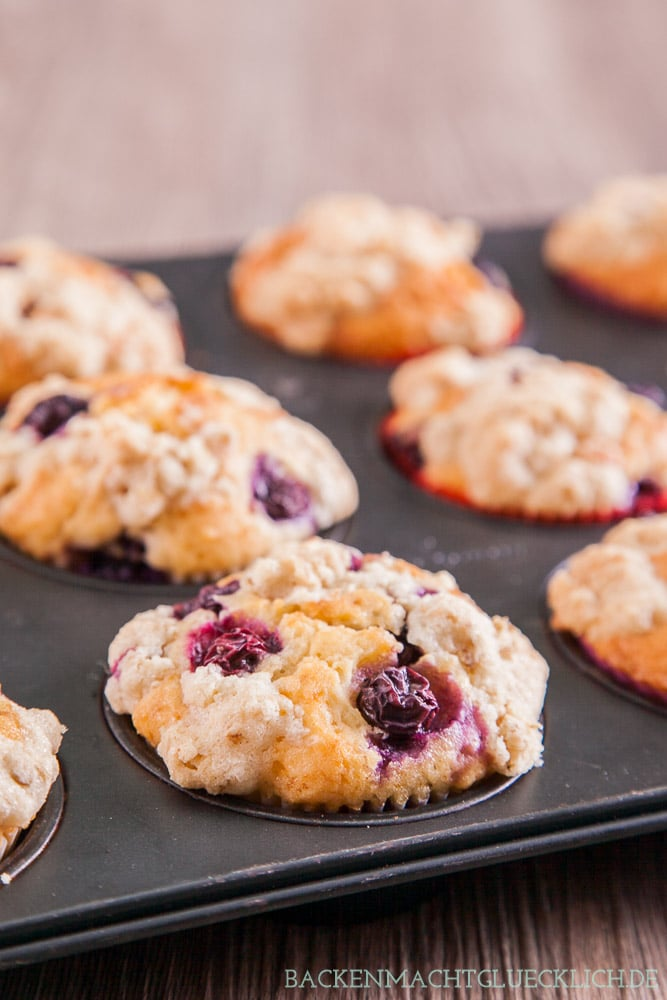 Blueberry Muffins mit Buttermilch