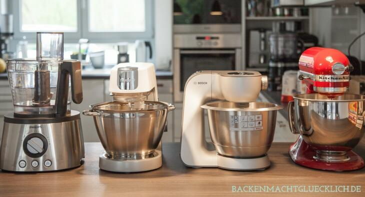 Küchenmaschinen-Test Kitchenaid, Kenwood, Bosch, Philips