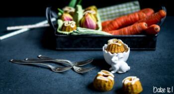 Kleine Karottenkuchen-Gugl