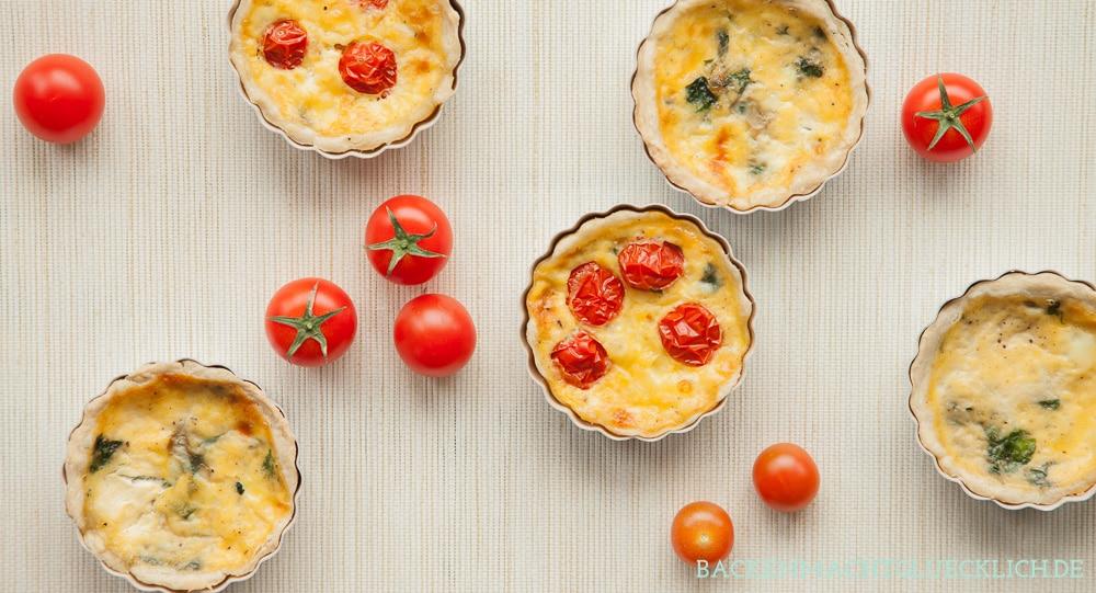 Spinat-Tartelettes mit Käse | Backen macht glücklich