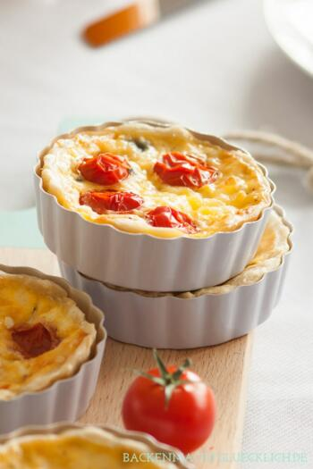 Spinat-Tartelettes Spinat-Quiche