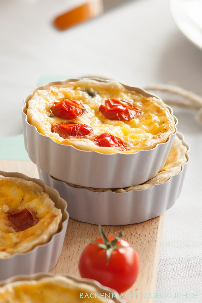 Spinat-Tartelettes Spinat-Quiche