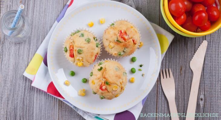Herzhafte Muffins Schafskäse Gemüse