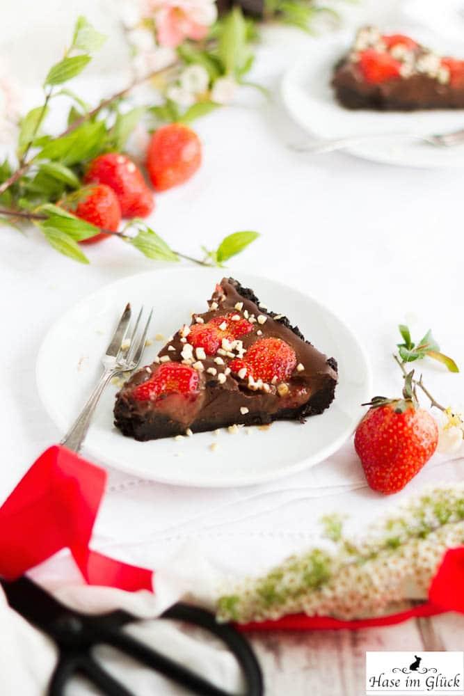 Oreo Tarte mit Erdbeeren