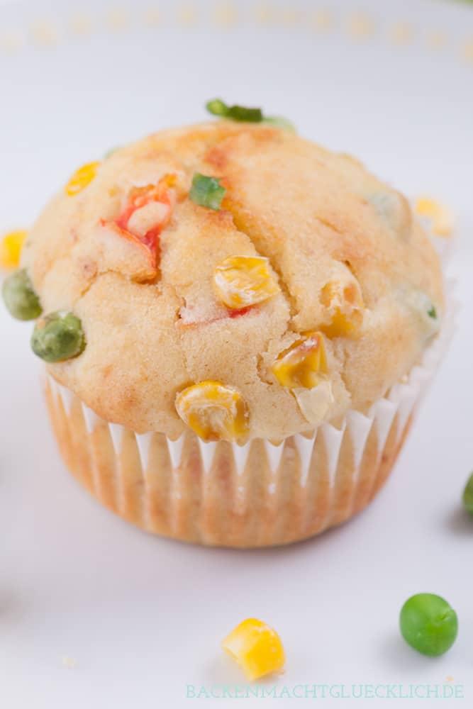 Pikante Muffins Gemüse Schafskäse