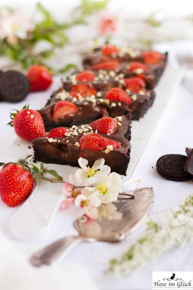 Erdbeer Schokoladen Tarte Backen Macht Glucklich