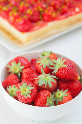 Erdbeer-Kuchen mit Pudding