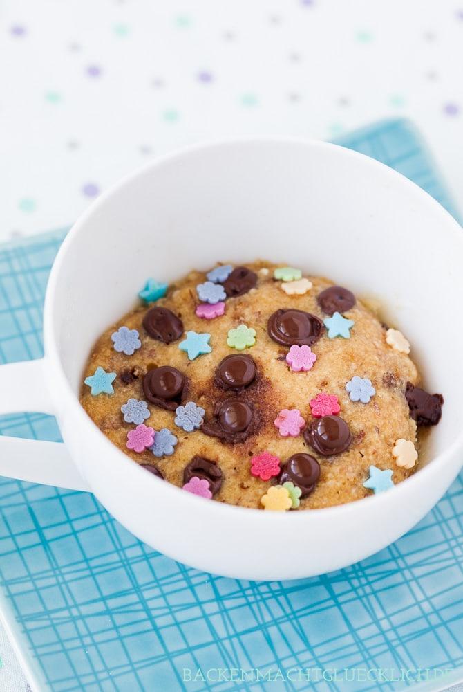 Mug Cookie aus der Mikrowelle