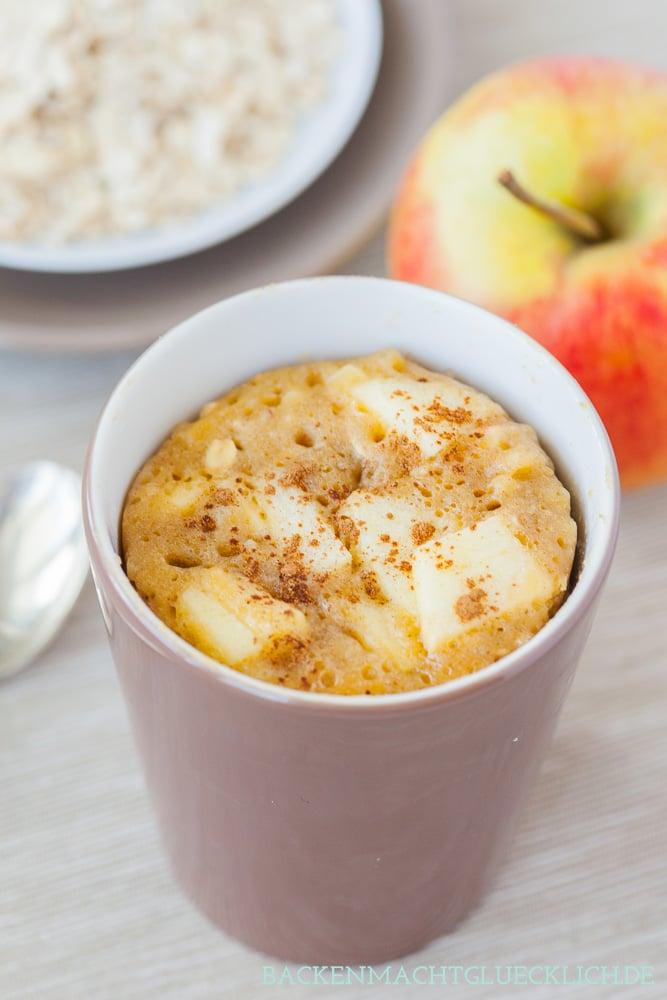 Tassenkuchenrezept Apfel-Zimt
