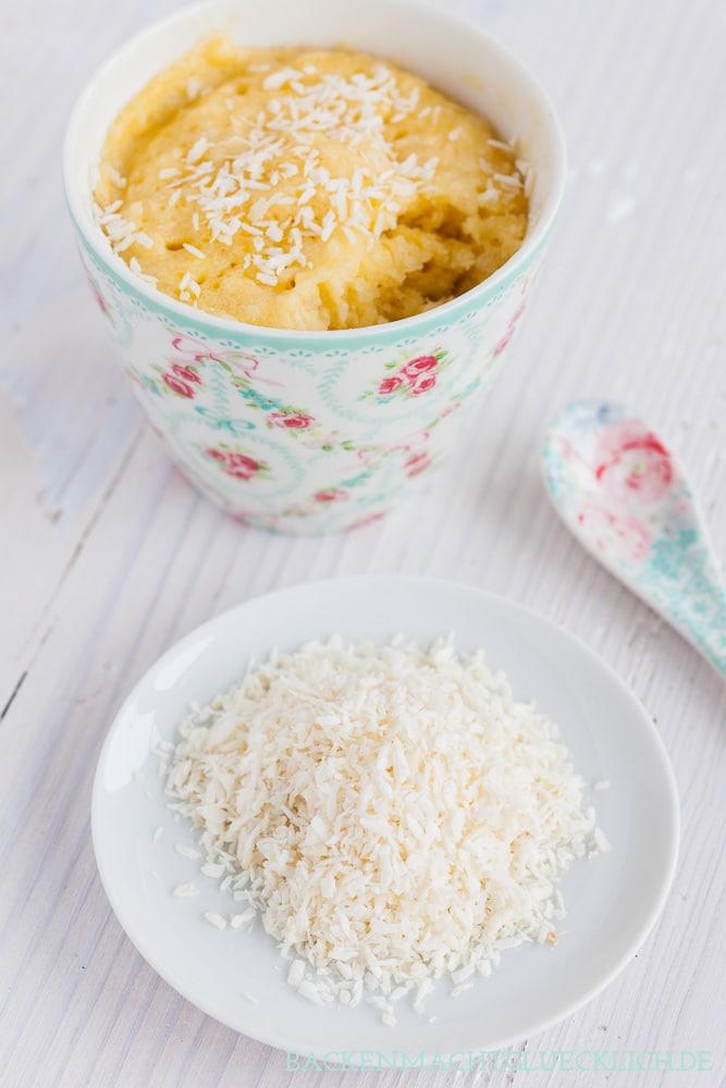 Tassenkuchen-Rezept Kokos Zitrone