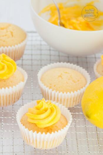 Lemon Cupcakes Zitronen Cupcakes backen