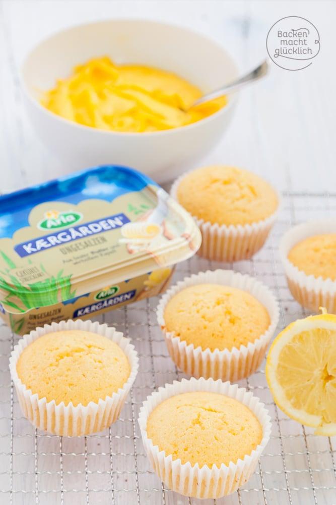 Zitronenmuffins mit Topping