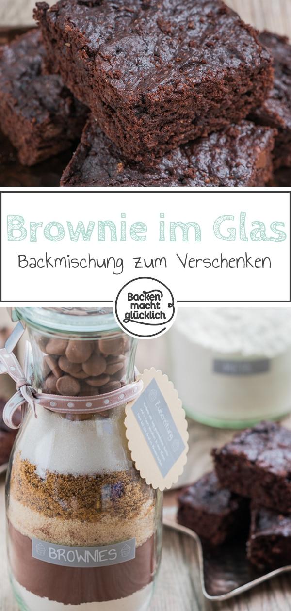 brownie backmischung im glas backen macht gl cklich. Black Bedroom Furniture Sets. Home Design Ideas