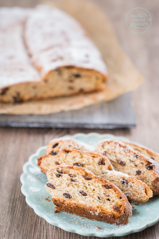 Christstollen backen