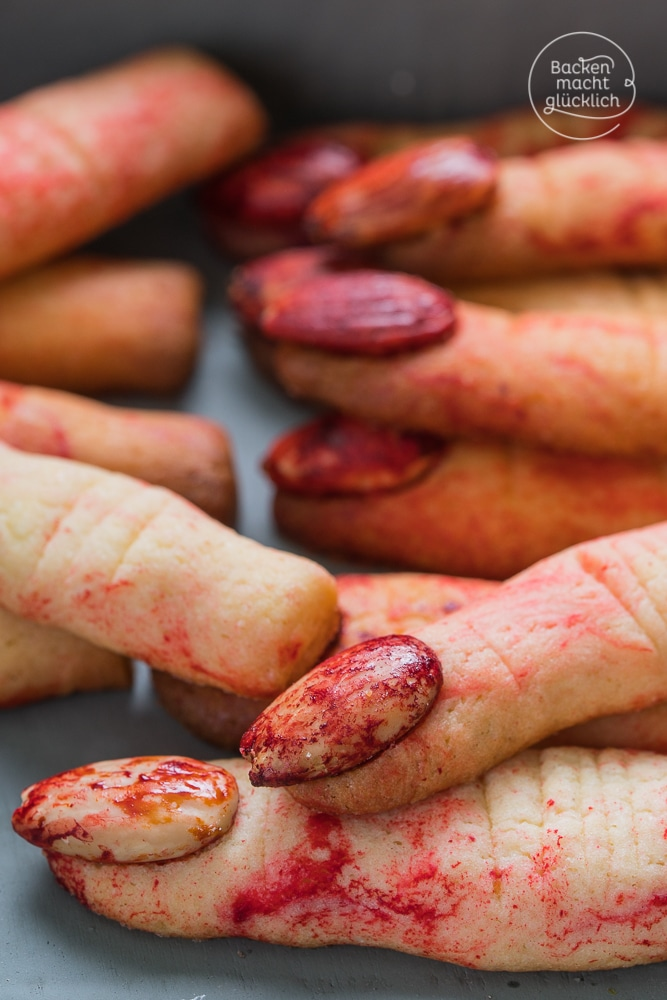 Halloween Finger backen Rezept